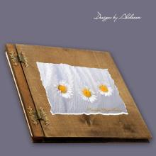 album drewniany CLASSIC duży 25 kart motyw chrzest 3