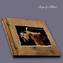 album drewniany CLASSIC duży 25 kart motyw chrzest 4