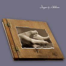 album drewniany CLASSIC duży 25 kart motyw chrzest 5