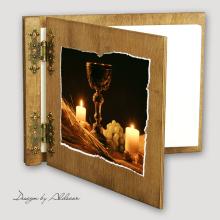 album drewniany CLASSIC średni 25 kart I KOMUNIA motyw 1