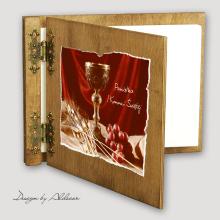 album drewniany CLASSIC  standard 25 kart I KOMUNIA motyw 2