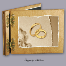album drewniany CLASSIC  standard 25 kart  motyw ślubny nr 1