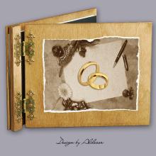 album drewniany CLASSIC  standard 25 kart motyw ślubny nr 3