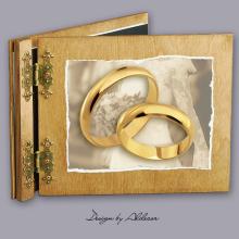 album drewniany CLASSIC  standard 25 kart motyw ślubny nr 4