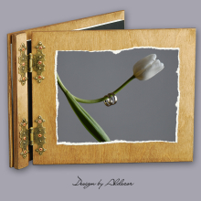 album drewniany CLASSIC standard 25 kart  motyw ślubny nr 7