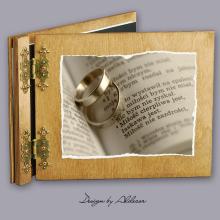 album drewniany CLASSIC standard 25 kart motyw ślubny nr 9