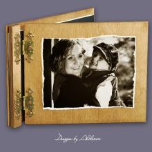 album drewniany CLASSIC  standard 25 kart ze zdjęciem klienta