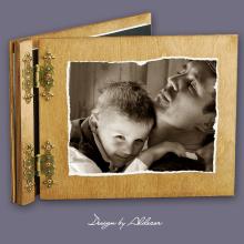 album drewniany CLASSIC średni 25 kart ze zdjęciem klienta