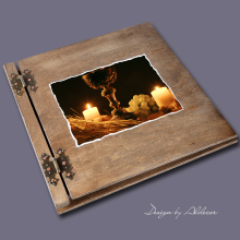 album drewniany CLASSIC duży 25 kart motyw I KOMUNI motyw 1