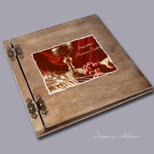 album drewniany CLASSIC duży 25 kart motyw I KOMUNI motyw 2