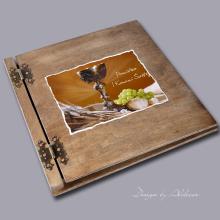 album drewniany CLASSIC duży 25 kart motyw I KOMUNI motyw 3
