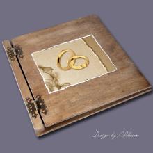 album drewniany CLASSIC duży 25 kart motyw ślubny nr 4