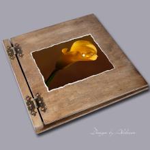 album drewniany CLASSIC duży 25 kart motyw ślubny nr 5