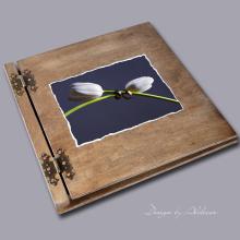 album drewniany CLASSIC duży 25 kart motyw ślubny nr 6