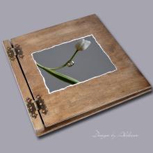 album drewniany CLASSIC duży 25 kart motyw ślubny nr 7