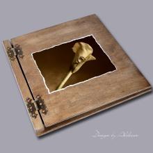 album drewniany CLASSIC duży 25 kart motyw ślubny nr 1
