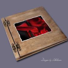 album drewniany CLASSIC duży 25 kart motyw walentynki 1