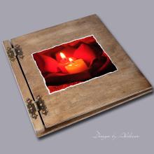 album drewniany CLASSIC duży 25 kart motyw walentynki 2