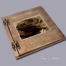 album drewniany CLASSIC duży 25 kart motyw walentynki 4