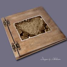 album drewniany CLASSIC duży 25 kart motyw walentynki 5