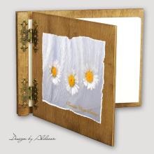 album drewniany CLASSIC standard 25 kart motyw chrzest 3