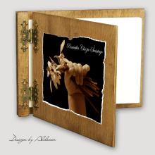 album drewniany CLASSIC średni 25 kart motyw chrzest 4