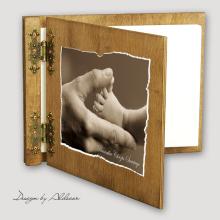 album drewniany CLASSIC standard 25 kart motyw chrzest 5