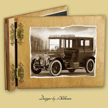 album drewniany CLASSIC standard 25 kart  motyw samochodu retro 2