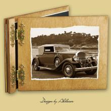 album drewniany CLASSIC standard 25 kart  motyw samochodu retro 4