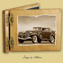 album drewniany CLASSIC standard 25 kart  motyw samochodu retro 5