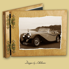 album drewniany CLASSIC standard 25 kart  motyw samochodu retro 6