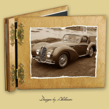 album drewniany CLASSIC standard 25 kart  motyw samochodu retro 7