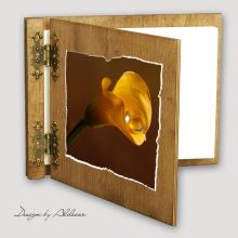 album drewniany CLASSIC średni 25 kart motyw ślubny nr 5
