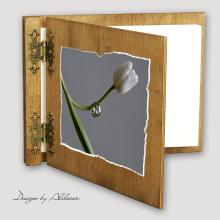 album drewniany CLASSIC sredni 25 kart  motyw ślubny nr 7