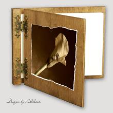 album drewniany CLASSIC średni 25 kart motyw ślubny nr 8