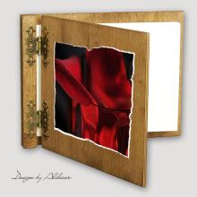 album drewniany CLASSIC średni 25 kart motyw walentynki 1