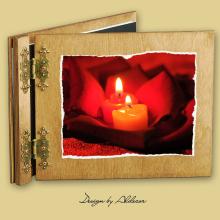 album drewniany CLASSIC standard 25 kart motyw walentynki 2