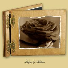 album drewniany CLASSIC standard 25 kart motyw walentynki 4