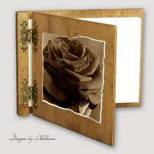 album drewniany CLASSIC średni 25 kart motyw walentynki 4