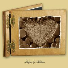 album drewniany CLASSIC standard 25 kart motyw walentynki 5
