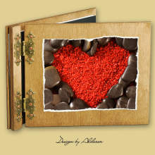 album drewniany CLASSIC standard 25 kart motyw walentynki 6