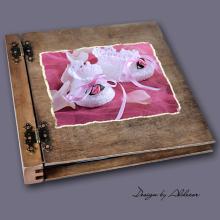 album drewniany DUO duży 50 kart motyw chrzest 1