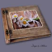album drewniany DUO duży 50 kart motyw chrzest 2