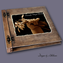 album drewniany DUO duży 50 kart motyw chrzest 4