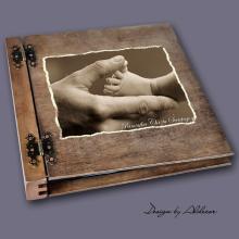 album drewniany DUO duży 50 kart motyw chrzest 5