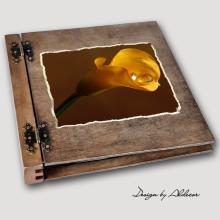 album drewniany DUO duży 50 kart motyw ślubny nr 5