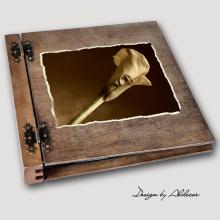 album drewniany DUO duży 50 kart motyw ślubny nr 8