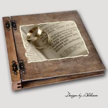 album drewniany DUO duży 50 kart motyw ślubny nr 9