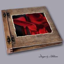 album drewniany DUO duży 50 kart motyw walentynki 1