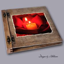 album drewniany DUO duży 50 kart motyw walentynki 2